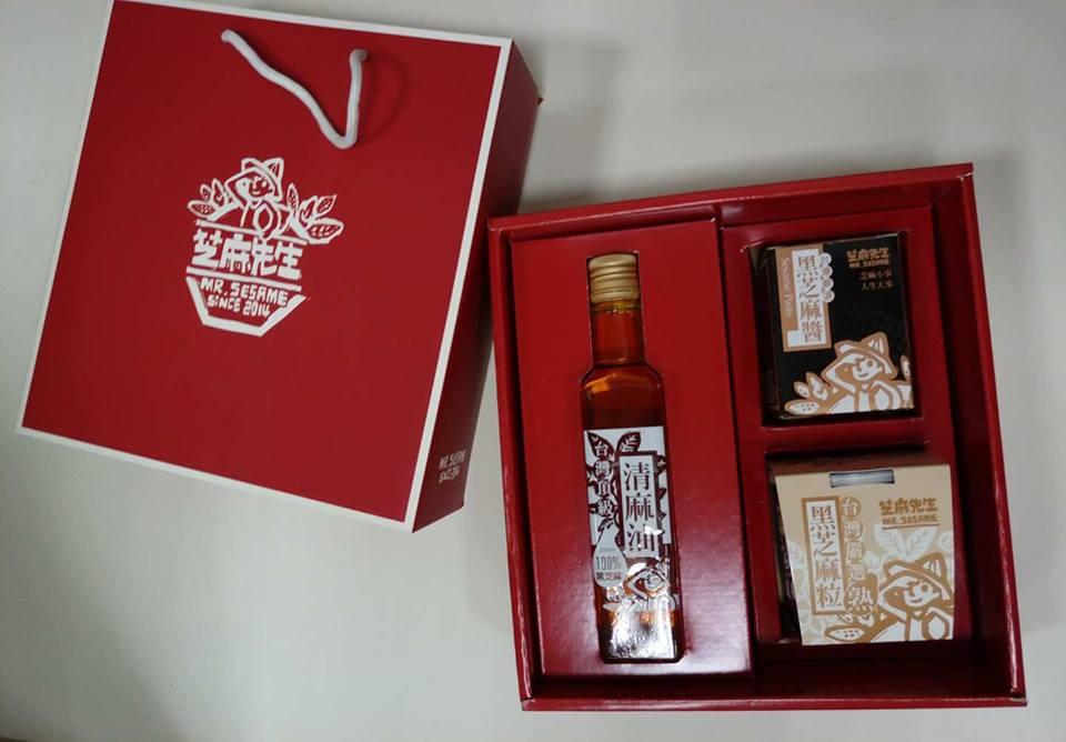 大三元禮盒(清麻油+芝麻醬+芝麻粒)