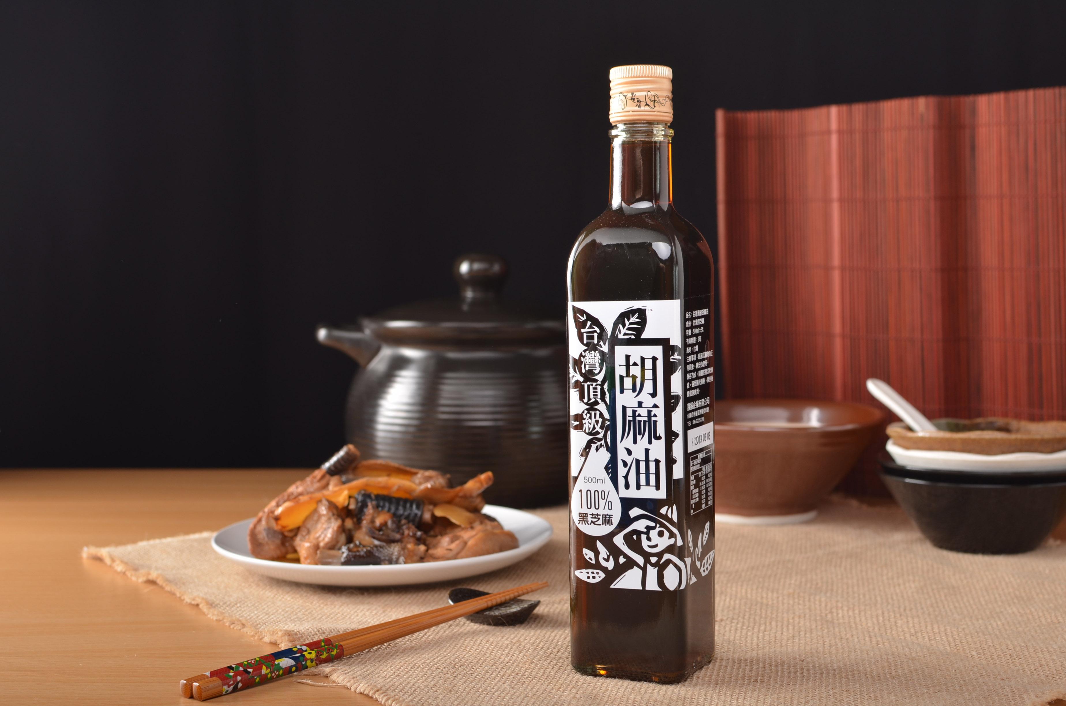 台灣頂級黑芝麻胡麻油(500ml)