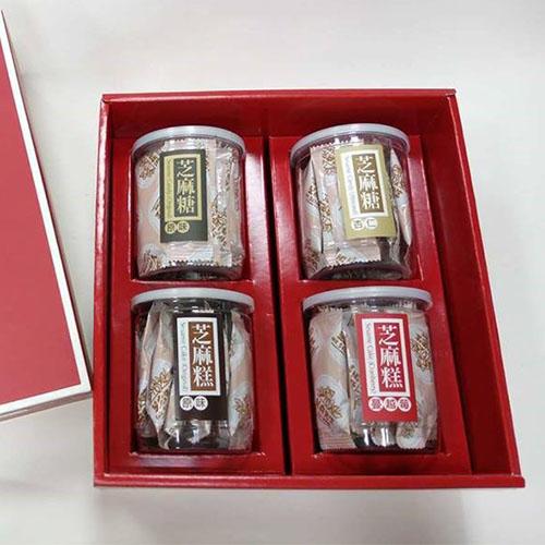 芝麻糖組合(一)-芝麻糕(原味、蔓越梅)+芝麻糖(原味、杏仁)
